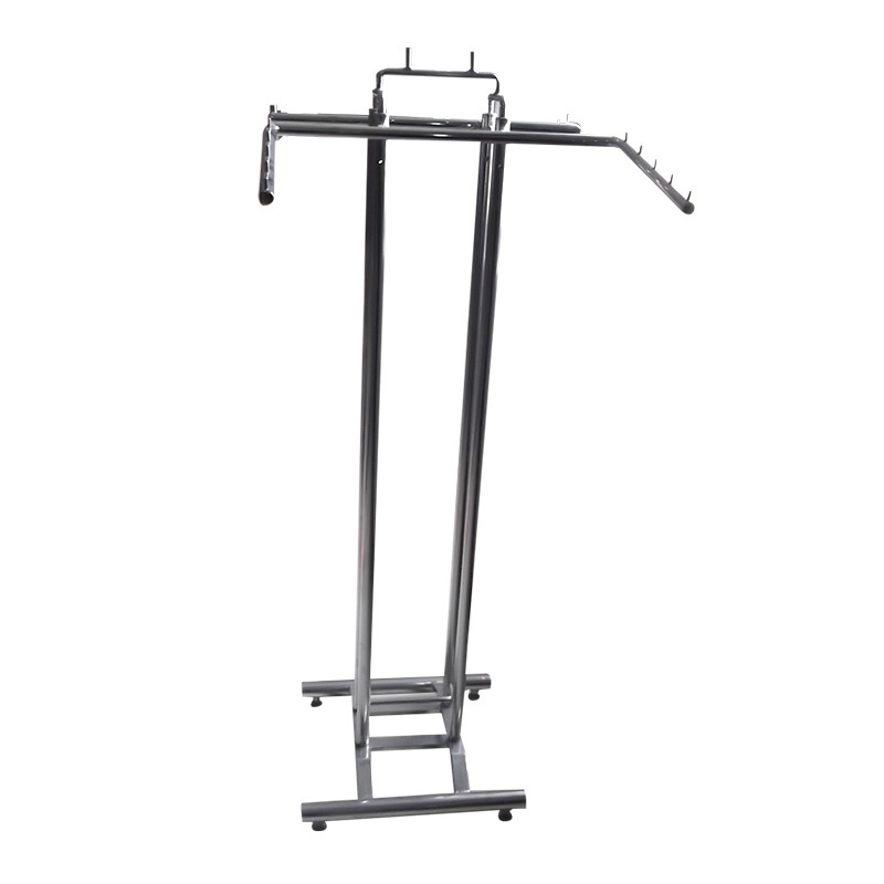 Chrome Garment Rack with 4 Style Hanging Bars