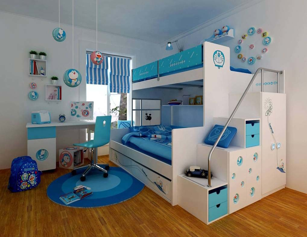 Kid Boy Bedroom Idea With Bunk Beds