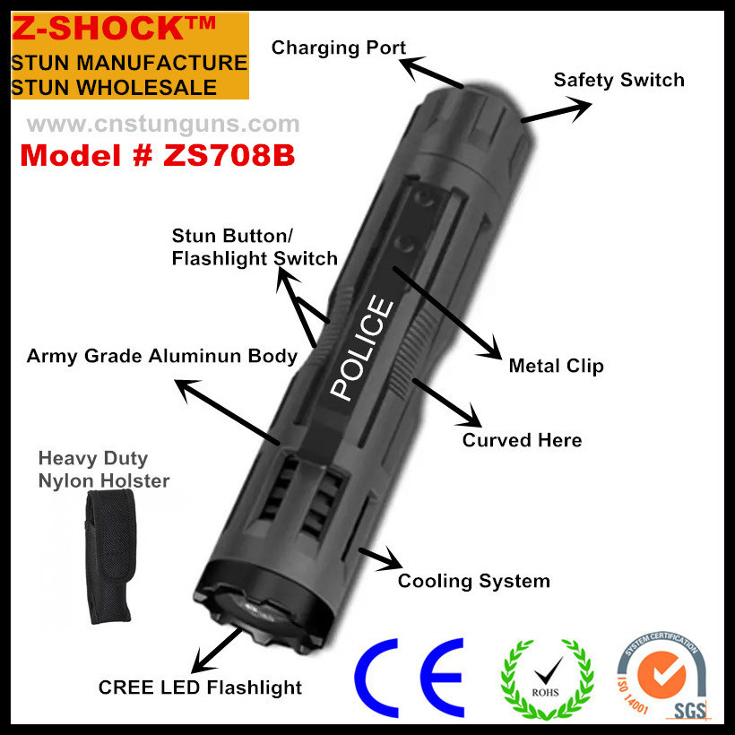 Zs9005 Military Tactical Flashlight Stun Guns