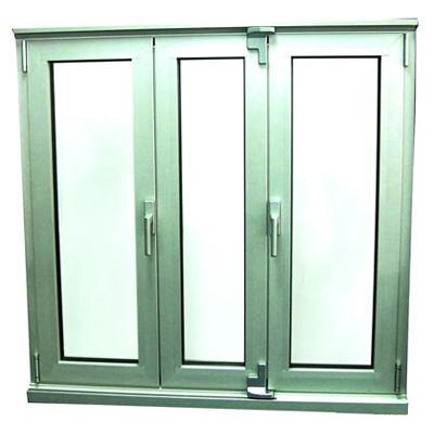 China 3 panels top quality aluminium bifold glass windows for Best quality windows