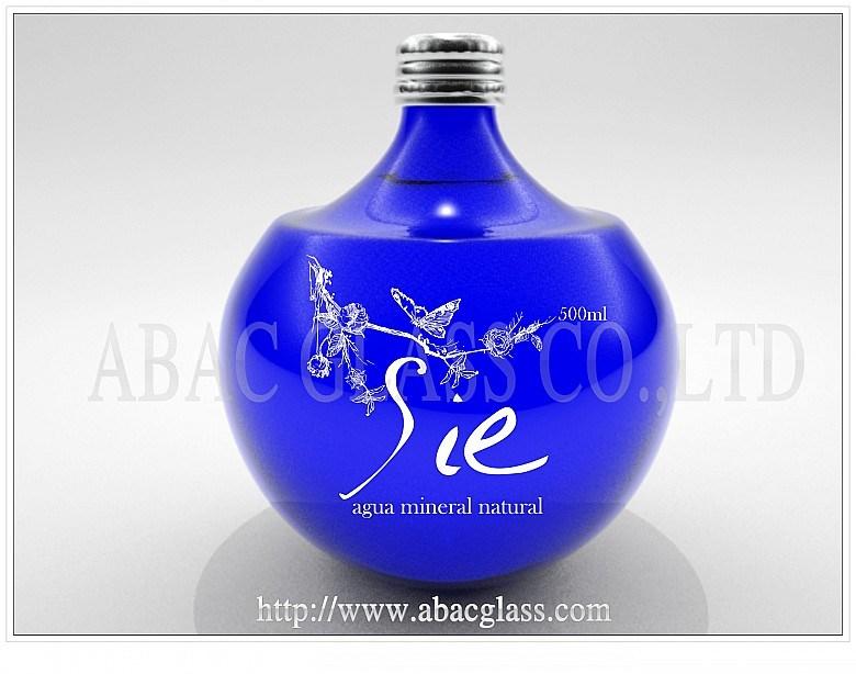 Blue Water Glass Bottle