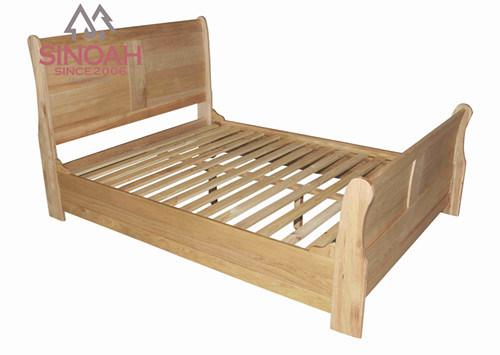 China new design el oak wood double bed china double bed for Double bed new design