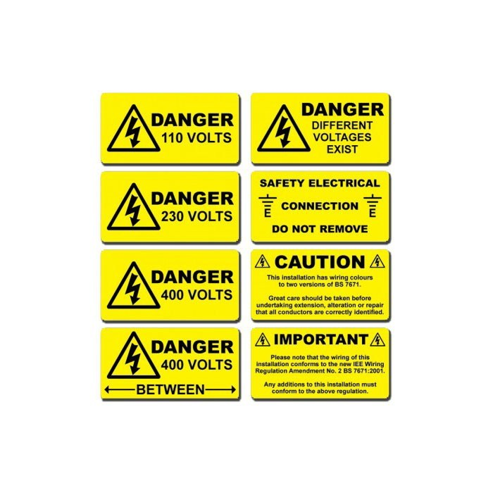 Abrasion, UV, Chemical Resistant Outdoor Safety Warning Labels