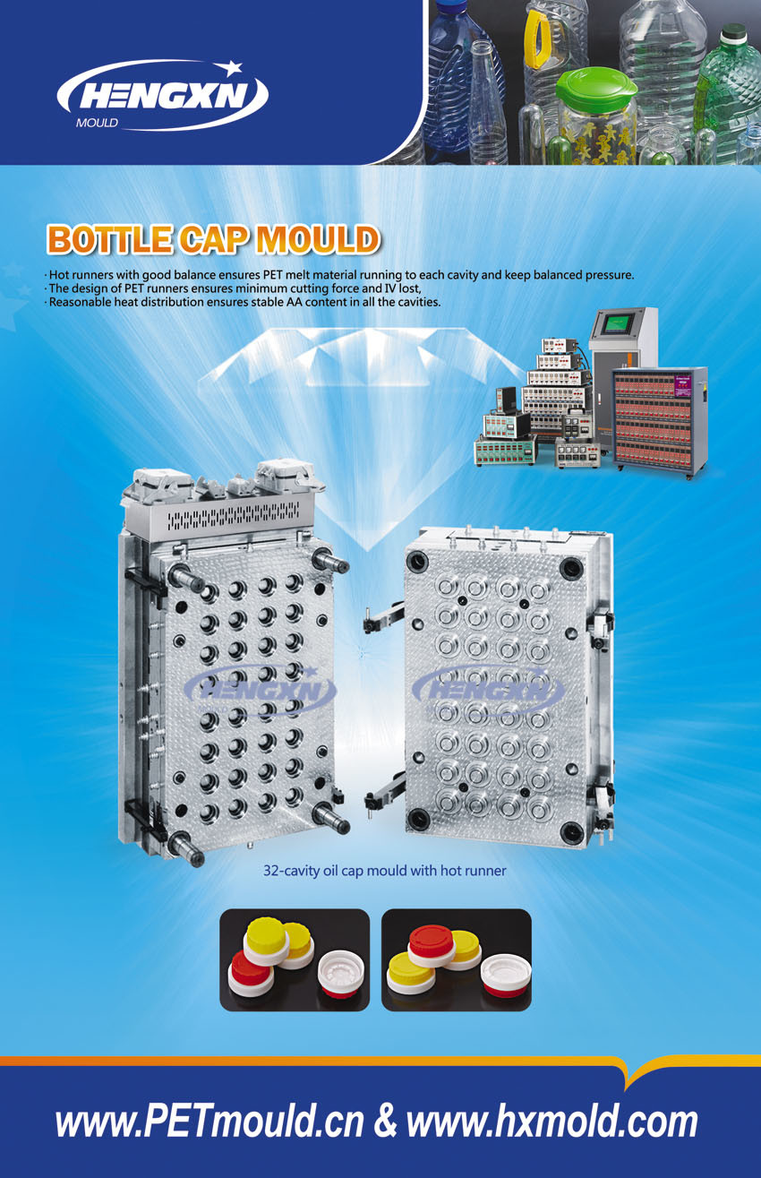Edible Oil Cap Mould With Hot Runner