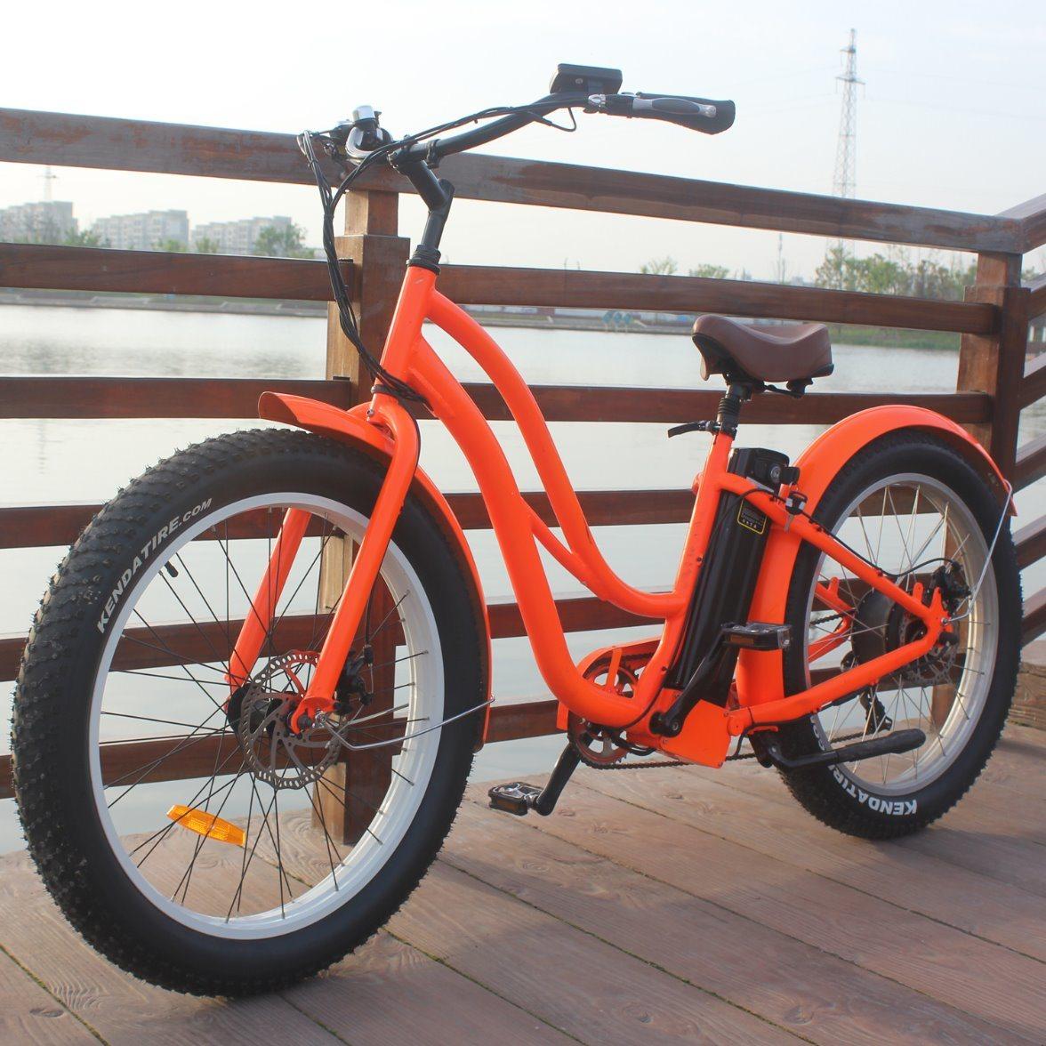 48V Mountain Fat Tire Electric Sport Bike 500W for Woman