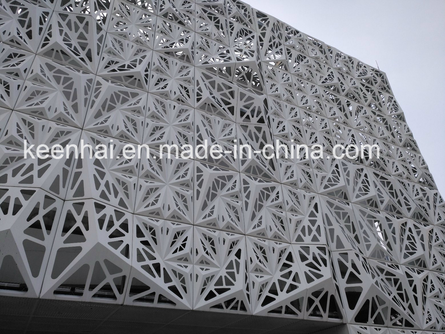 Perforated Aluminium Sheet Metal Modern Building Facade Panel