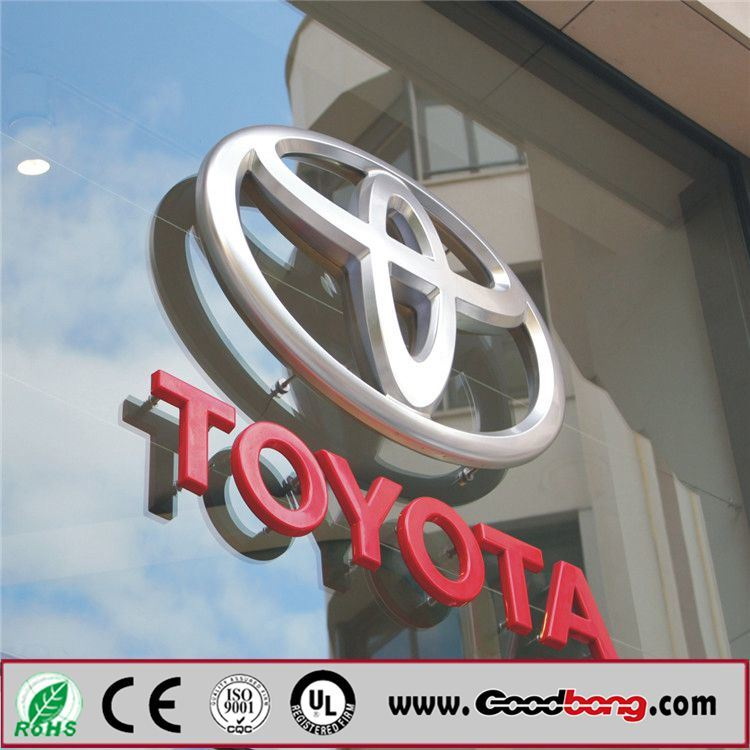 Customed High Quality Vacuum Acrylic LED Backlit Car Logo / Car Emblems