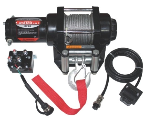 ATV Winch CMH3000-a 12V DC Mini Portable