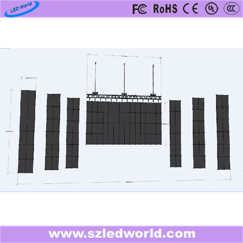 Outdoor/Indoor Rental Full Color Die-Casting LED Display Screen Panel Board China Factory Advertising (P3.91, P4.81, P5.68, P6.25 500X500)