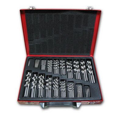 170PCS DIN338 HSS Twist Drill Bit in Metal Case