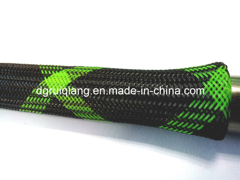 China durable braided expandable sleeve fishing rod cover for Fishing rod sleeves