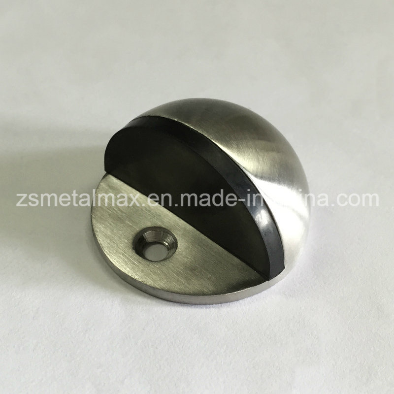 Stainless Steel Zinc Alloy Shielded Rubber Door Stop (MD001)