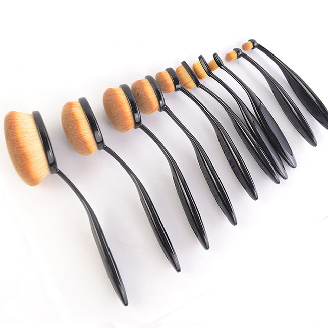 2016 Fashion Oval Toothbrush Shape Makeup Brush Set