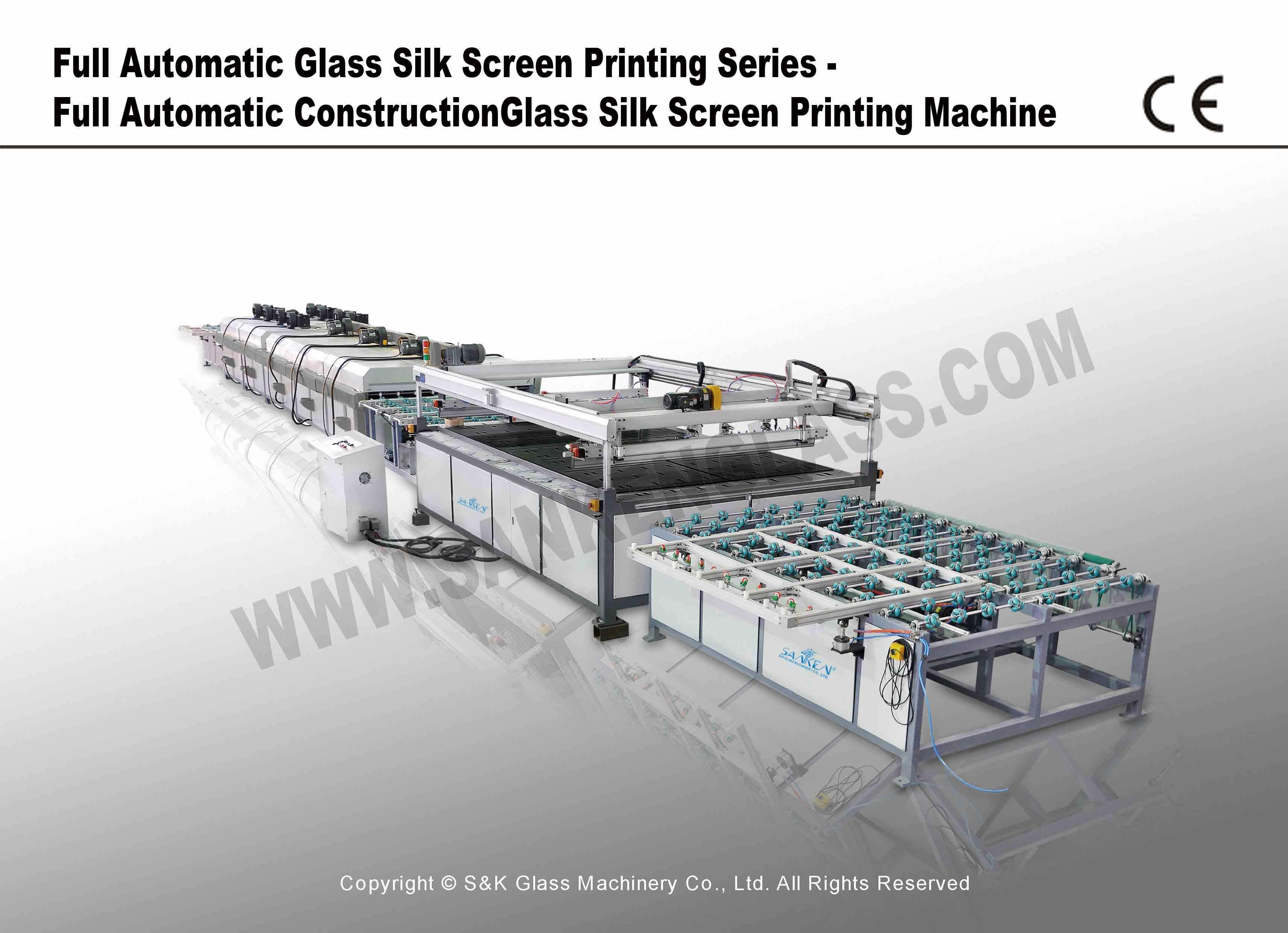Full Automatic Construction Glass Silk Screen Printing Machine Ay-Gl2551