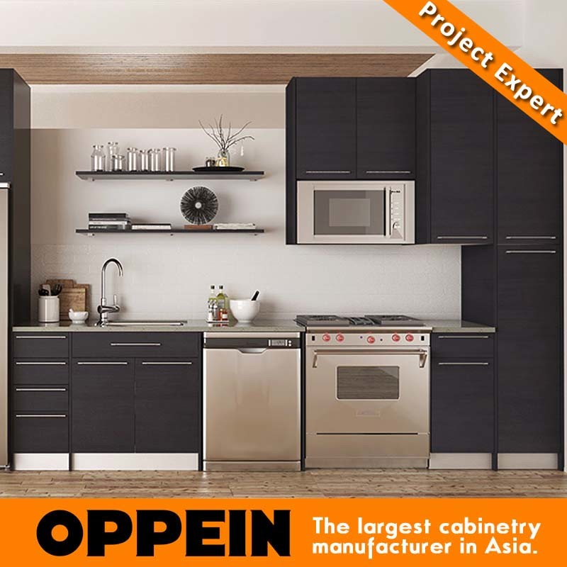 Modern Melamine Modular Wholesale Wood Kitchen Units Furniture (OP15-M12)