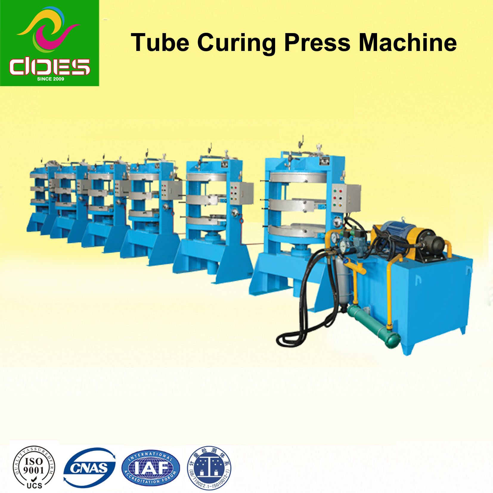 Two-Layer Curing Press Machine for Rubber Inner Tube with Hydraulic