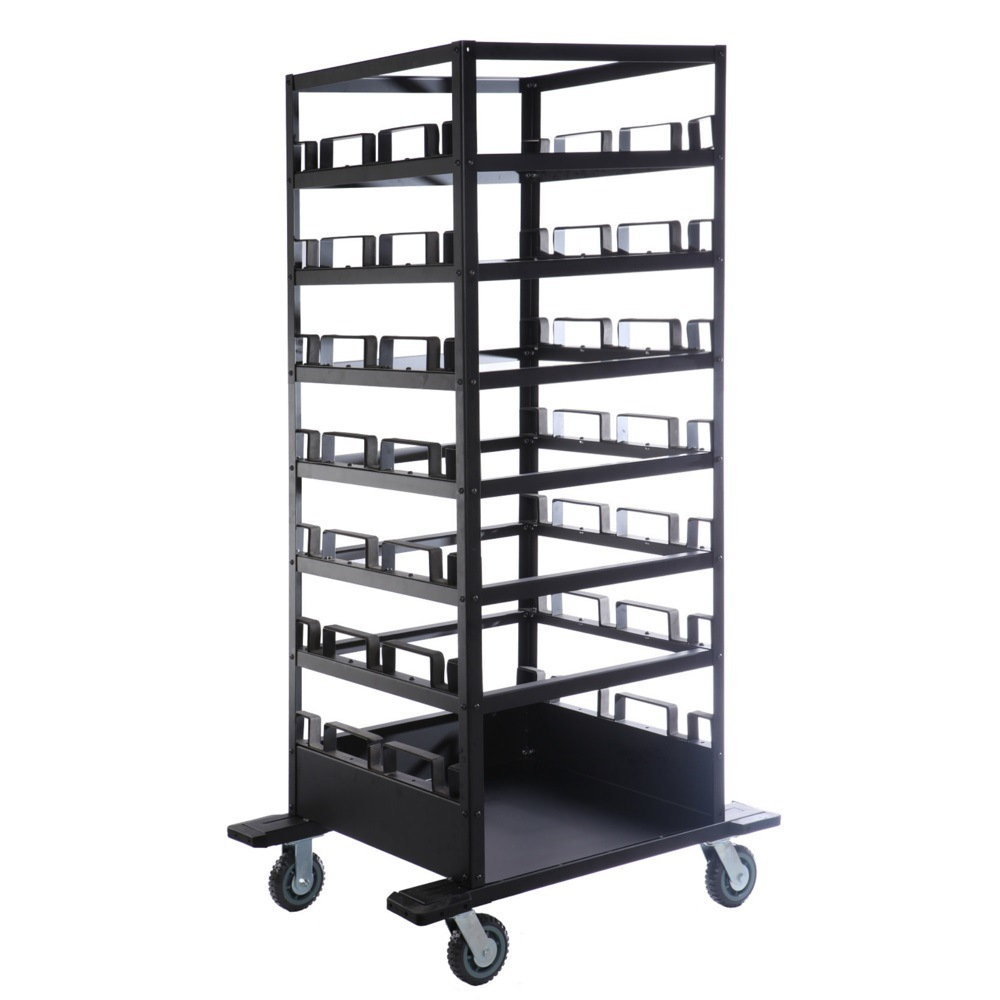 Stcart21 Heavy Duty Queue Barrier Storage Transport Cart