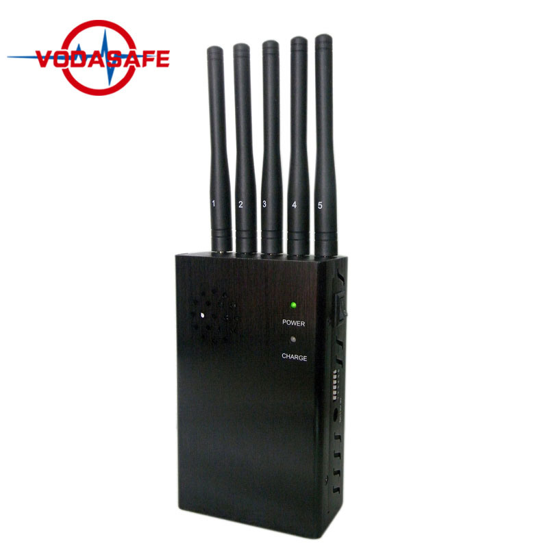 China 5 Bands 4G Handheld Mobile Signal Jammer (for Europe Market) , High Quality Handheld Powerful 4G Signal Jammer - China 5 Band Signal Blockers, Five Antennas Jammers