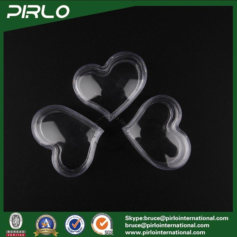 3G Heart Shape Transparent PS Jar with Lid Mini Eye Cream Jar Clear Plastic Jar
