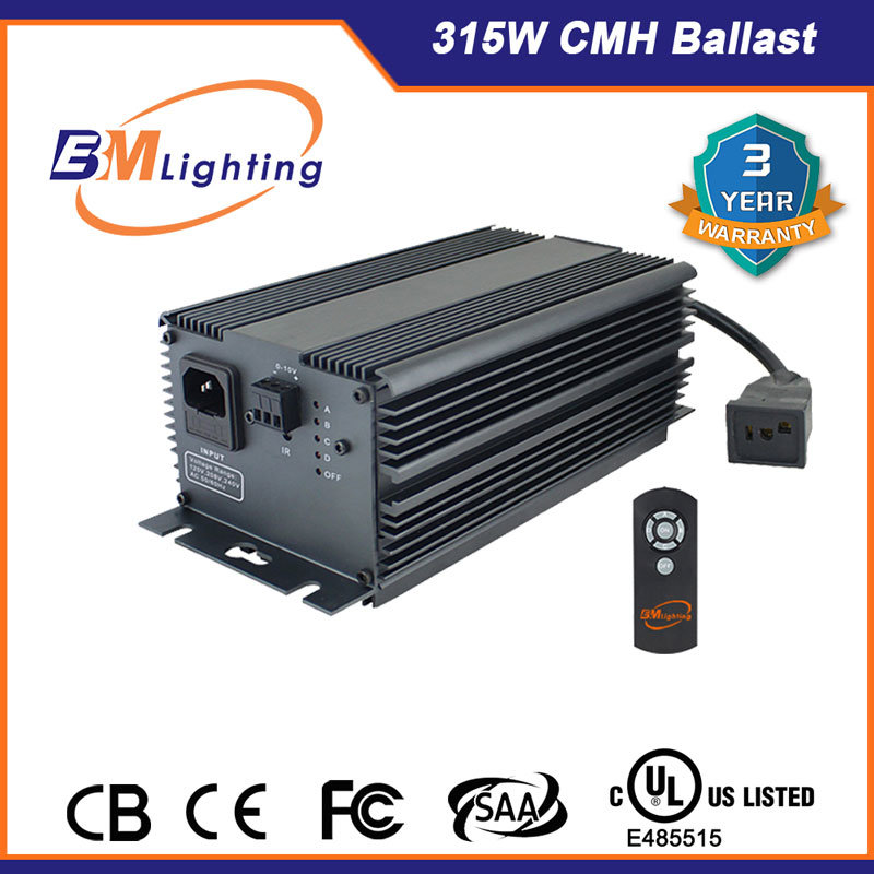 High Efficiency 315W CMH Hydroponic Electronic Lighting Ballast with Strong R&D Team
