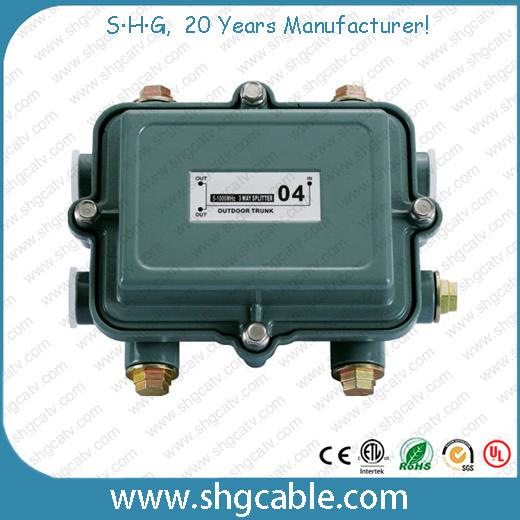 5-1000MHz Outdoor Power Passing CATV Splitters (SPTR2W)