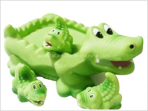 Green Crocodile Bath Toy Set