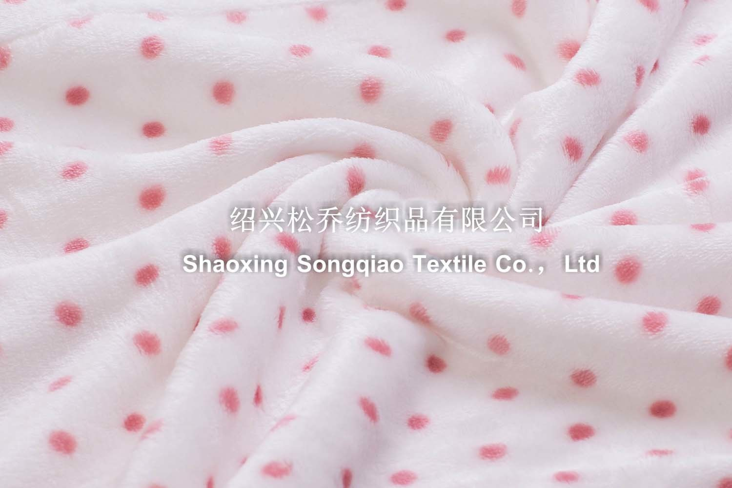 100% Polyester Printed Coral Fleece Blanket - DOT