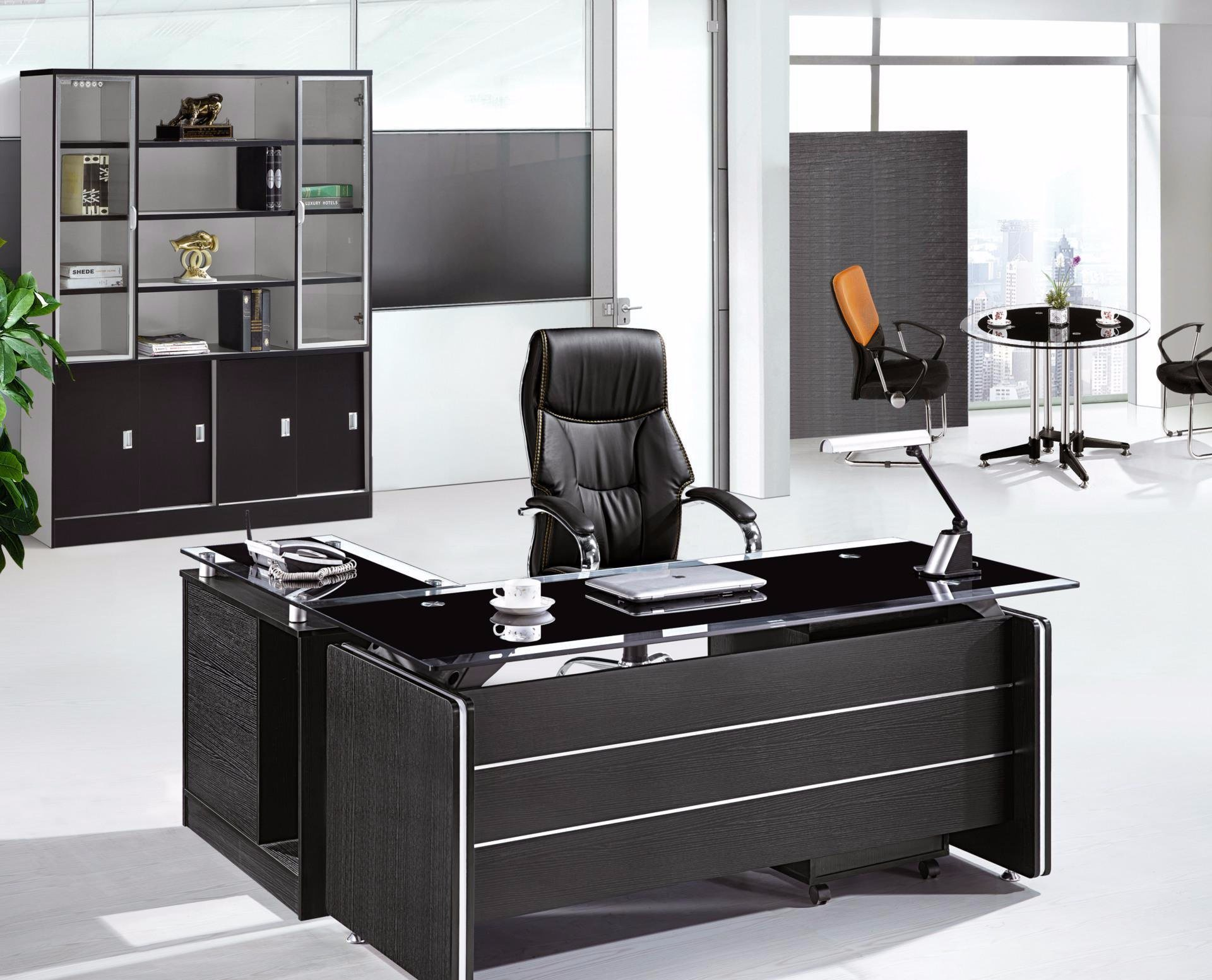 Glass Top Exeuctive Office Table Modern Office Furniture (NS-ND080.2)