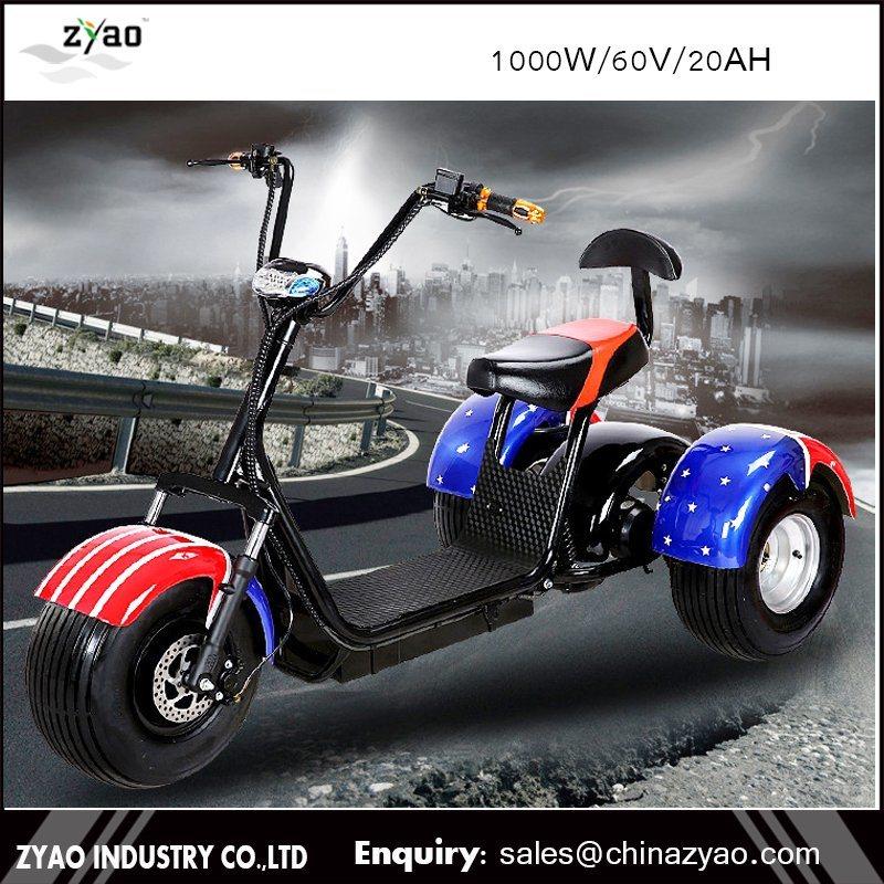 3 Wheel Harley Citycoco Electric Scooter/Three Wheel Electric Tricycle Scooter/Electric Trike