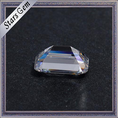 Hot Sale Clear White 1 Carat Emerald Cut Moissanite Diamond