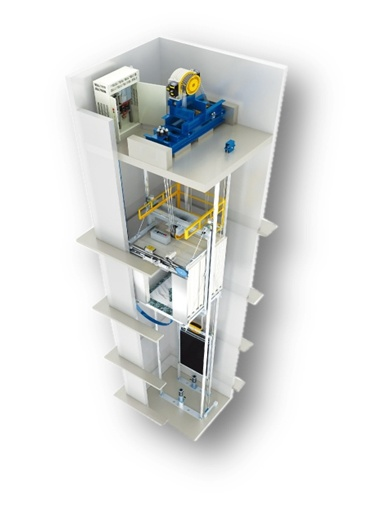 Observation Elevator with Superior Car Wall Ds-J240