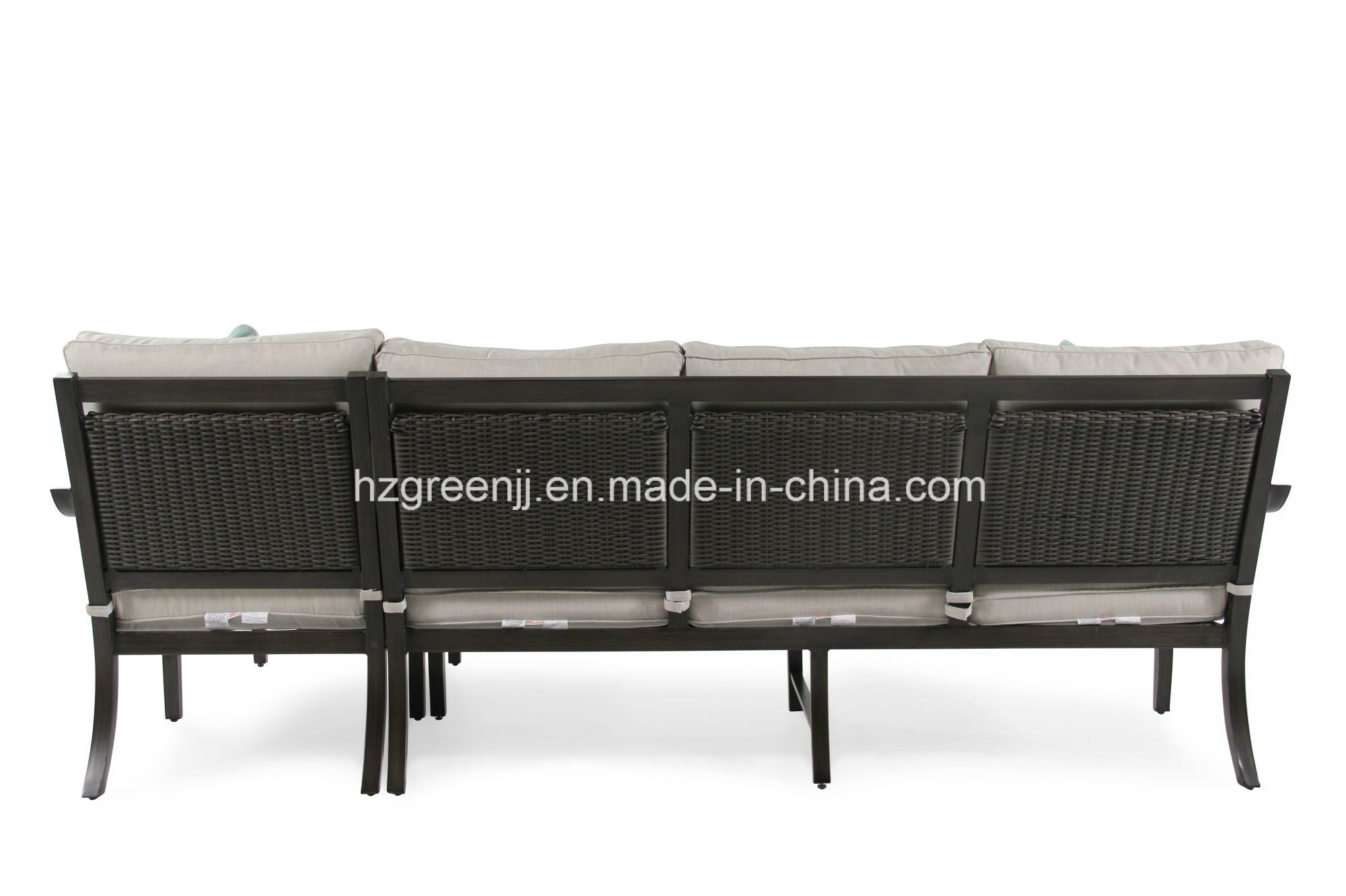 Aluminium Power Coating 4 Pieces Lounger Sofa Set Garden furniture