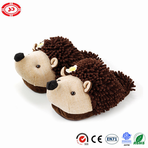 Black Penguin Plush Soft Warm En71 Fashion Slipper Shoe