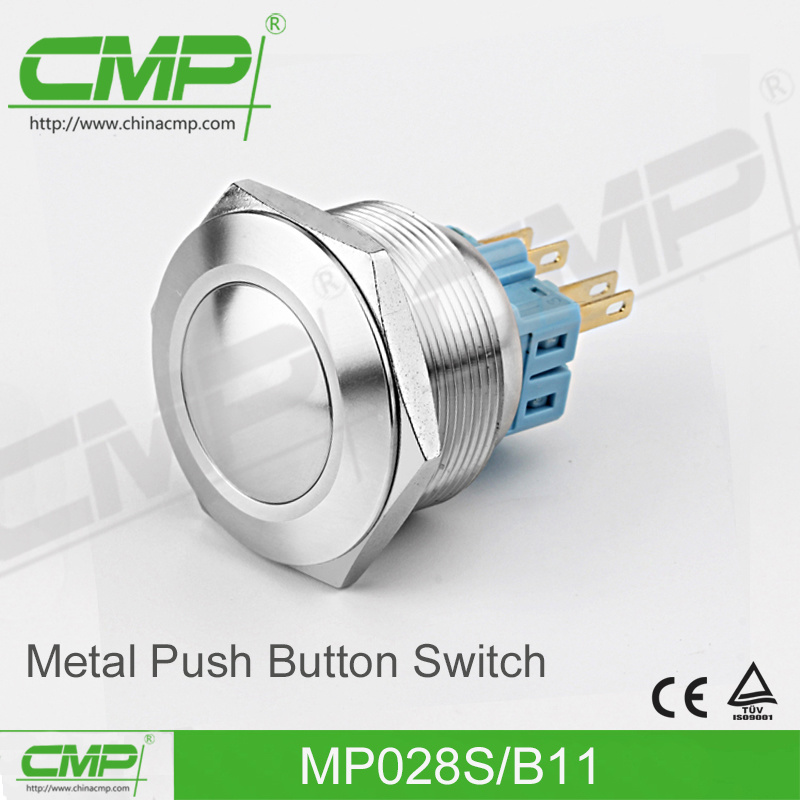 CMP No Nc Anti-Vandal Push Button Switch (28mm, Stainless Steel, TUV CE)