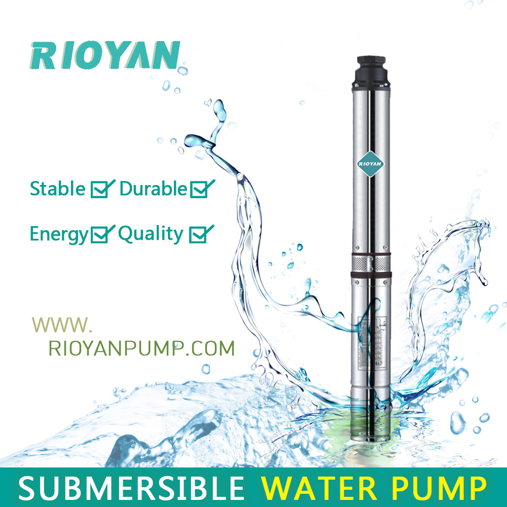 "Low Cost 3"" 180W 0.25HP Cast Iron Copper Wire Bine Profund Submersible Bomba Borehole Pump (75QJD1.8-07/0.18kW)"