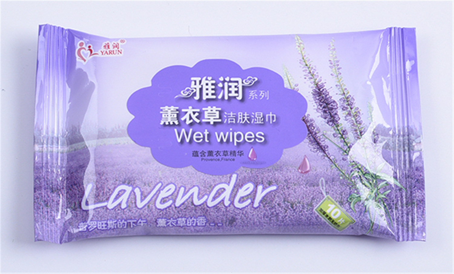 Hot Sell Skin Cleaning Wet Wipes Nonwoen 10 PCS