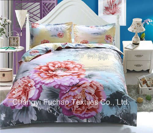 100% Polyester Microfiber Disperse 3D Bedding Sets
