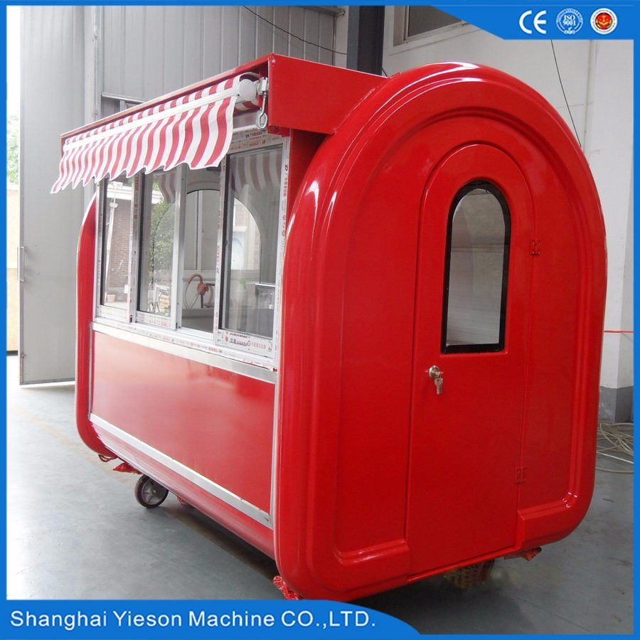 Ys-Bf230g Glass Sliding Window Mobile Food Carts Fast Food Kiosk