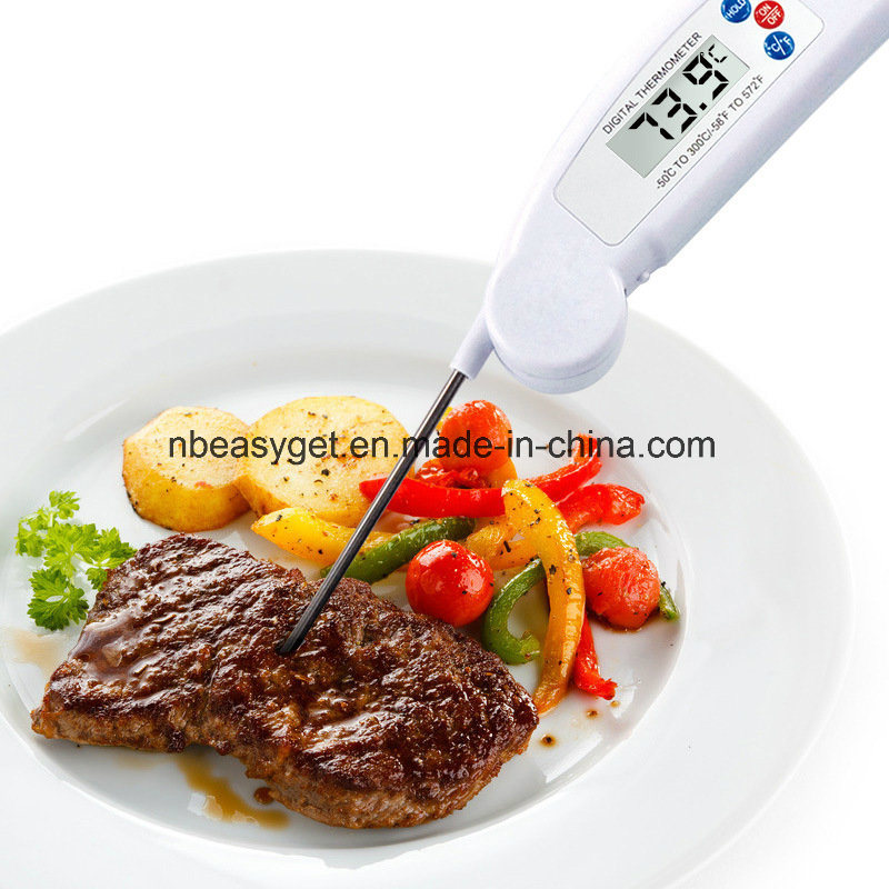 Meat Thermometer Instant Read Cooking Digital Food Probe Thermometer for BBQ/Grill Digital Instant Read Thermometer with Backlight, Cooking Food