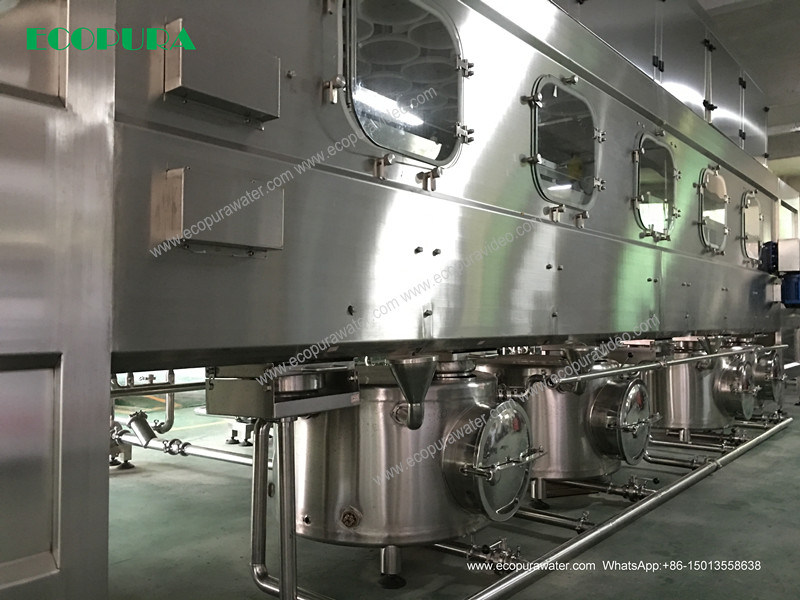 Bottled Water Filling Line for 5gallon / 18.9L Bottling Machine