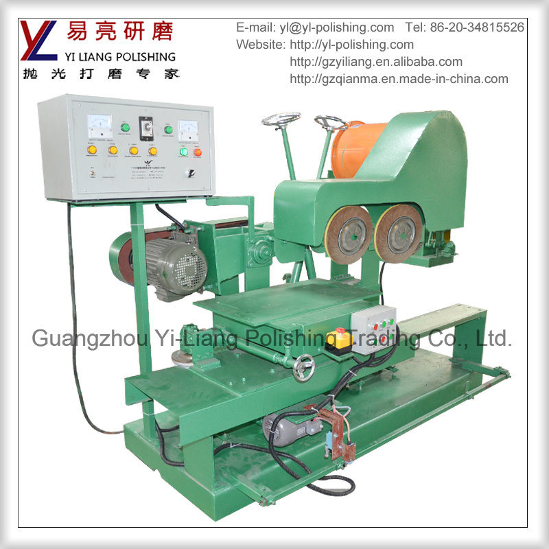 Double Buffing Wheels Polish Machine for Cutlery and Dinnerware Edge Grinding