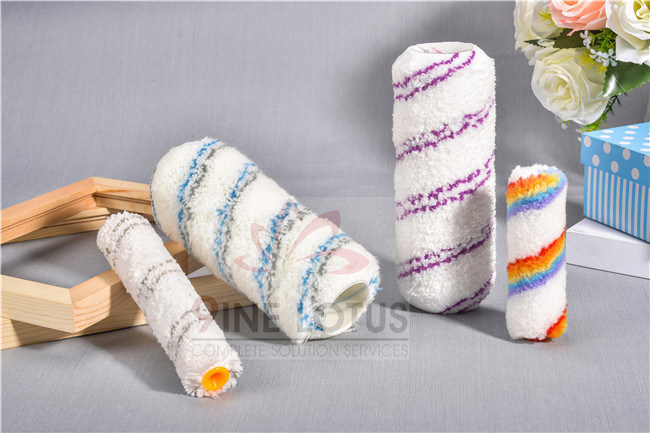 Best Quality Polyacrylic 18mm Double Color Stripe Height Paint Roller