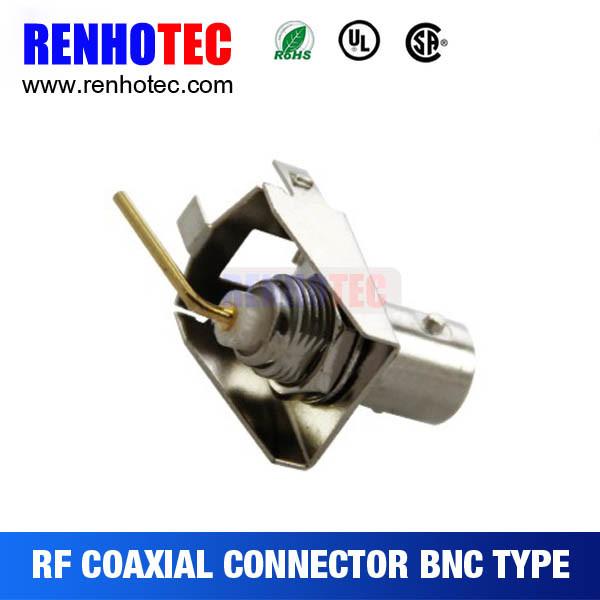 Zinc Alloy BNC Female Coaxial PCB Mount Connector