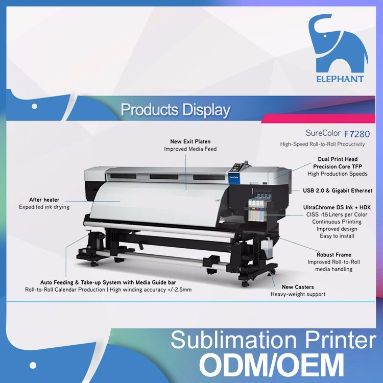 64inch Tfp Head Sc-F7280 Sublimation Transfer Printer