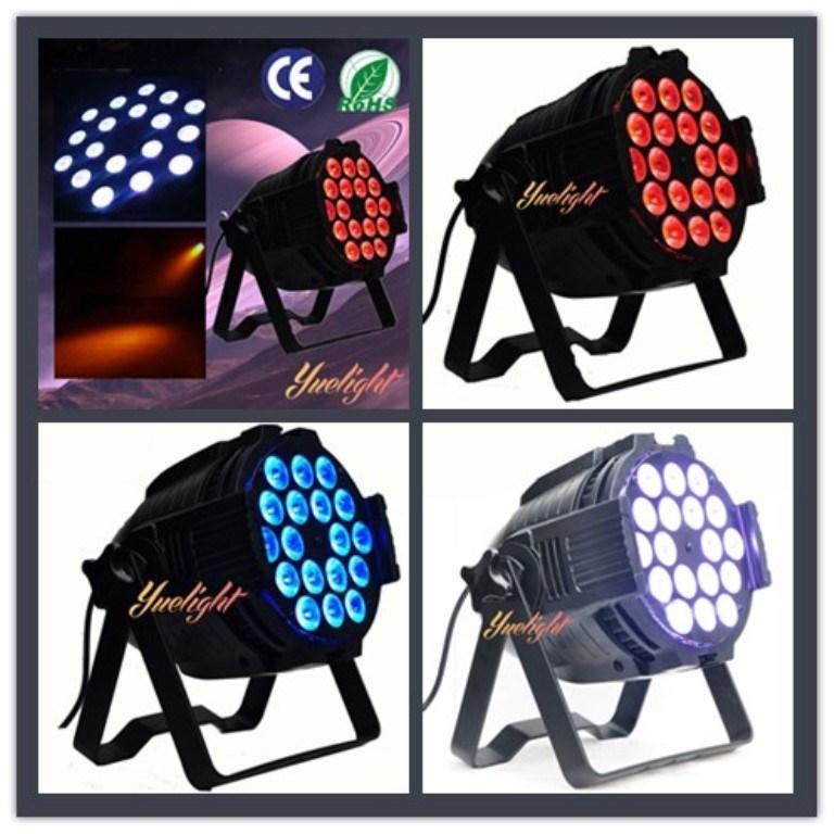 Hot Sell DMX512 Full Color 6 in 1 18X10W LED PAR Light