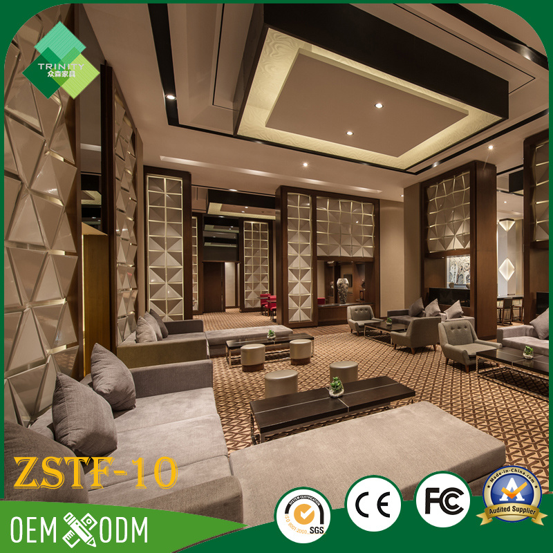 Environmental Wood Bedroom Furniture Set of Hotel Furniture (ZSTF-10)