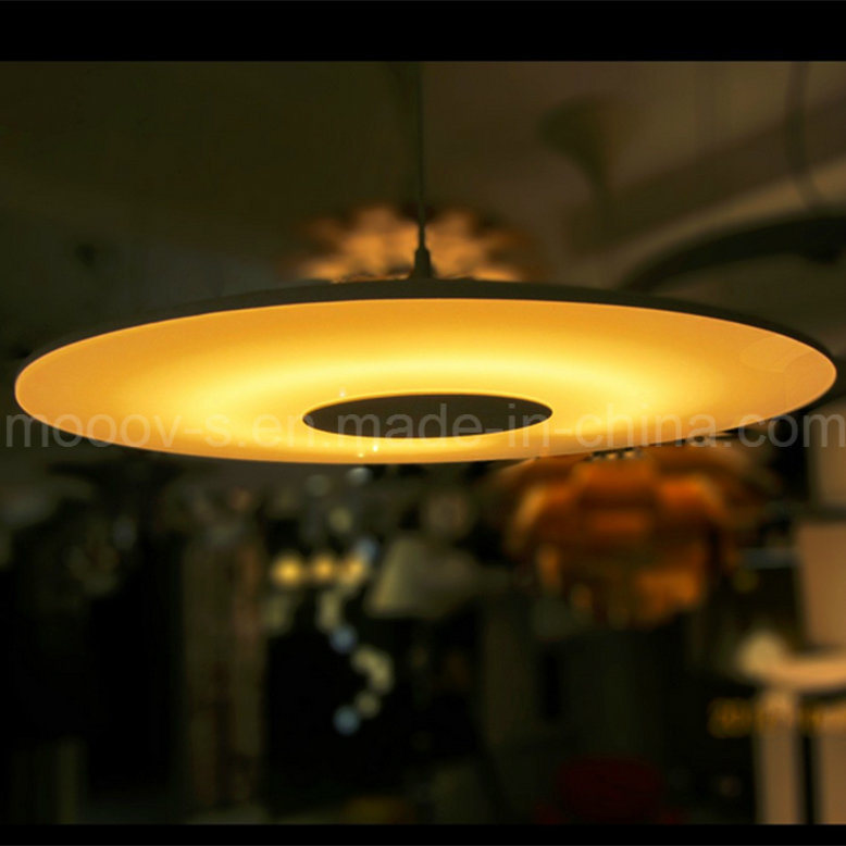 Science Fiction Style Aluminum Glass Circular Disk Ultrathin UFO Pendant Light