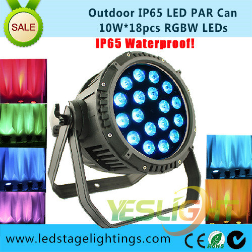 Outdoor Decoration LED PAR Can 18PCS*10W RGBW 4in1