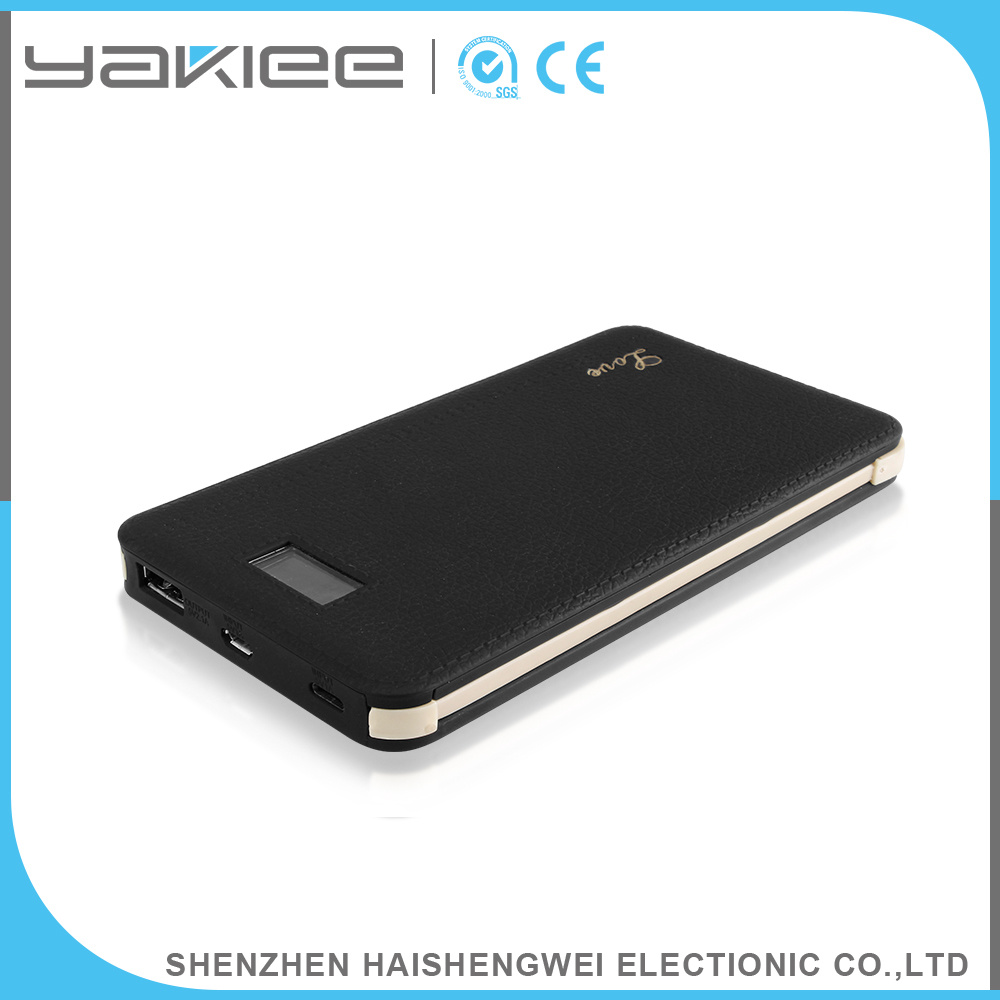 ABS+PC+Rubber Processing Oil Portable Cable Mobile Power Bank