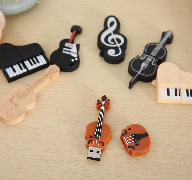 Musical Instruments Model USB Flash Violin/Piano/Guitar Pen Drive